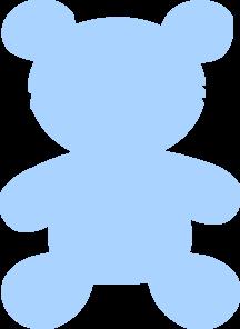 Teddy clipart baby blue Teddy Baby Clker Clip Art
