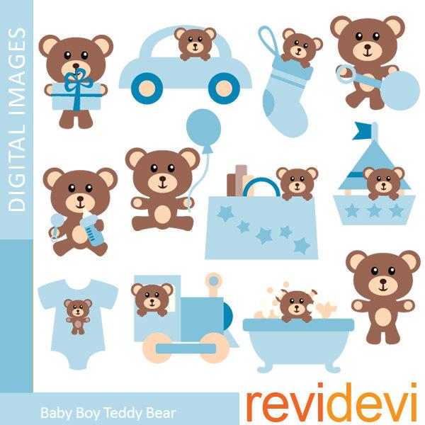 Teddy clipart baby boy Art Commercial art Teddy Baby
