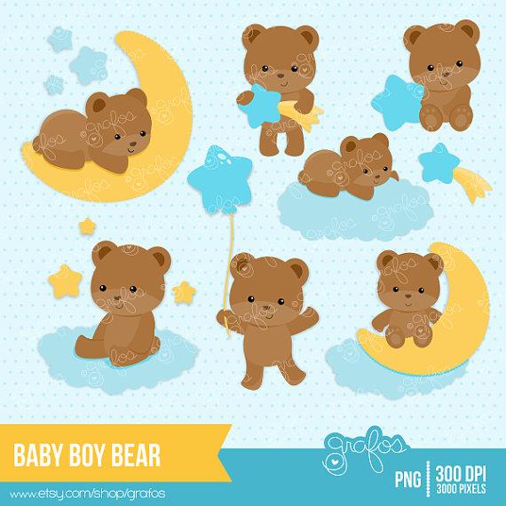 Teddy clipart baby boy Teddy Baby CUTE Digital Clipart