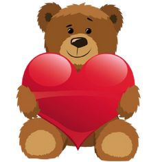 Teddy clipart baer Heart Heart Clipart Teddy With
