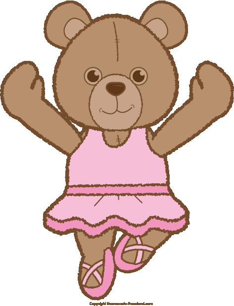Teddy clipart ballerina Click Save Clipart Bear to
