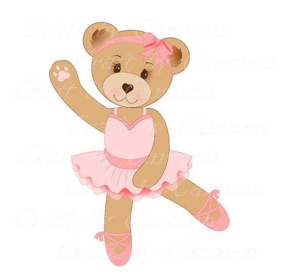 Teddy clipart ballerina Embroidery bailarina arte urso by