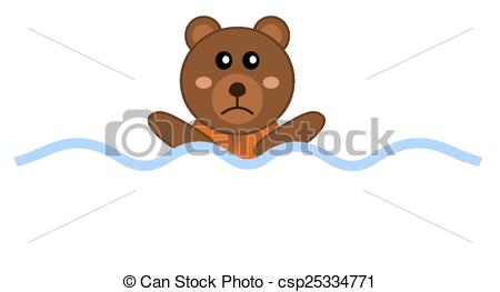 Teddy clipart bea Designing teddy drowning with Illustration