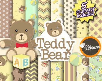Teddy clipart bea Shower