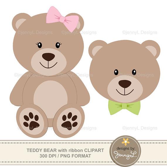 Teddy clipart bea With Teddy ribbon bow Bear
