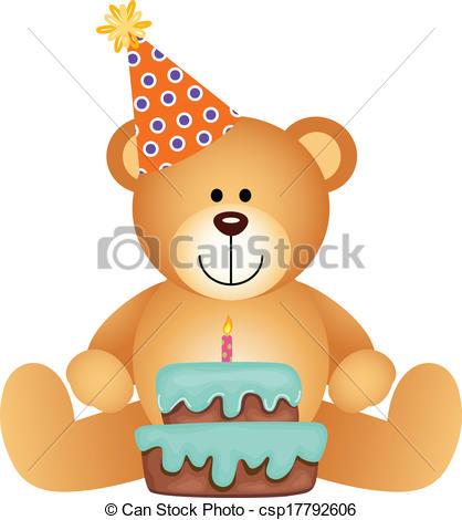 Teddy clipart birthday Teddy Bear with Clipart csp17792606