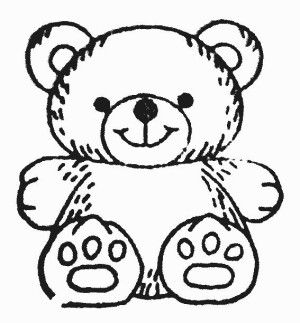 Teddy clipart black and white Clipartfest Teddy on bears outline