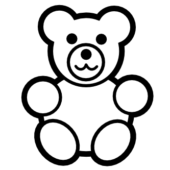 Teddy clipart black and white #710 Clipart Black and