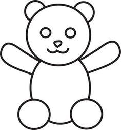 Teddy clipart black and white White Bear Clipart Black Cute