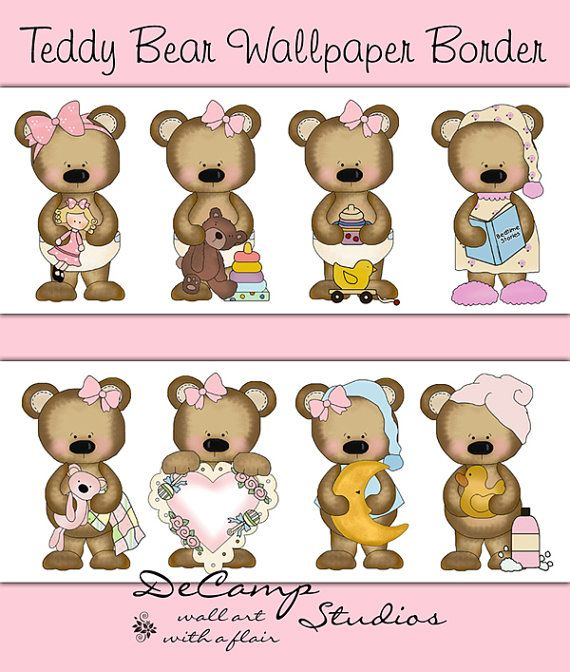 Teddy clipart border Best on and Teddy Pin