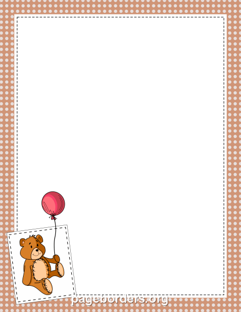 Teddy clipart border And teddy featuring Border: border