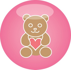 Teddy clipart circle #6
