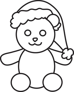 Teddy clipart coloring #12