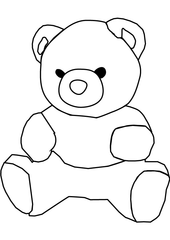 Teddy clipart coloring #5