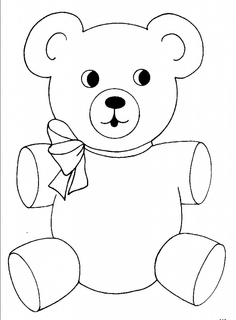 Teddy clipart coloring #6