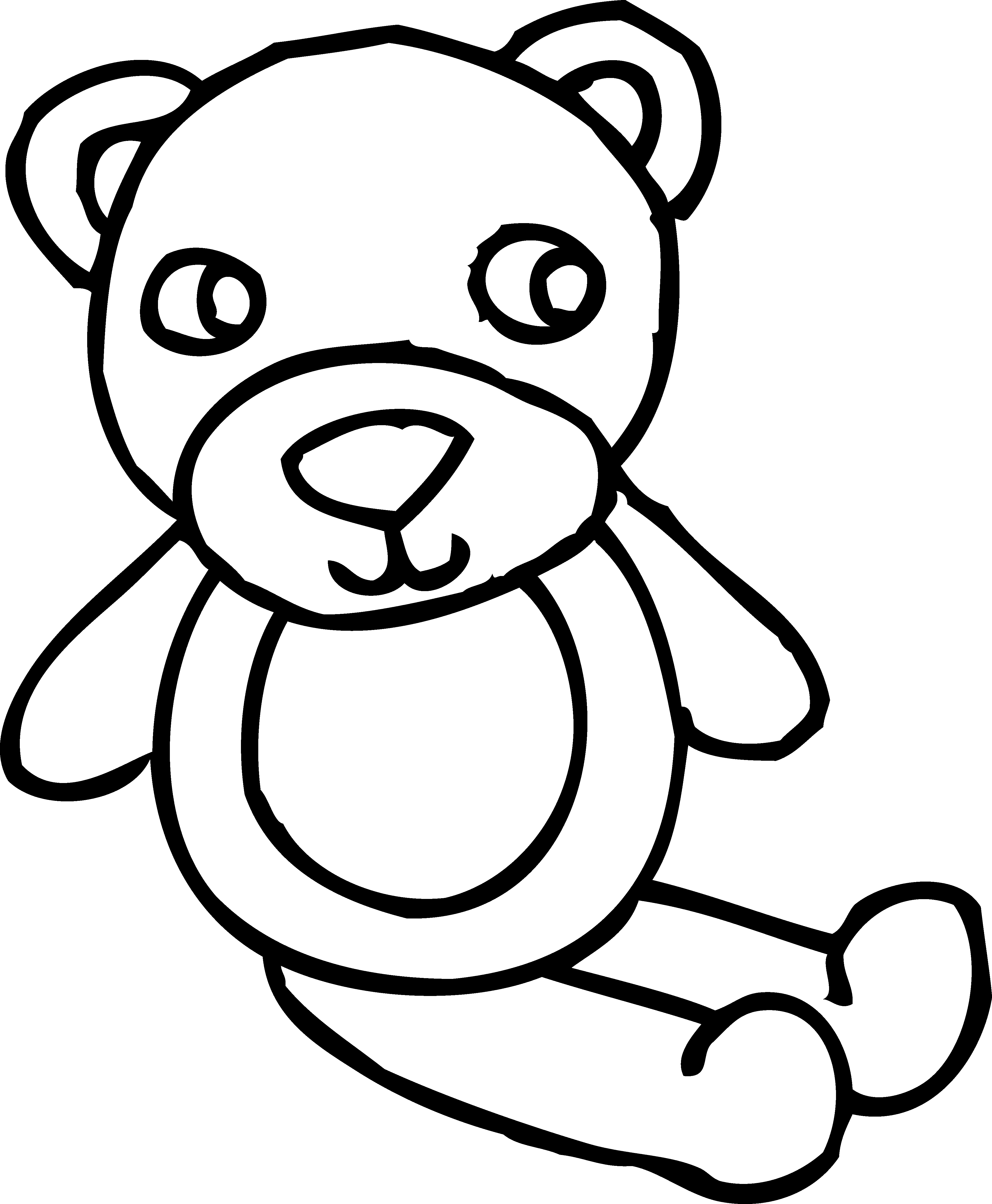 Teddy clipart coloring #8
