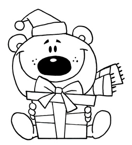 Teddy clipart coloring #13