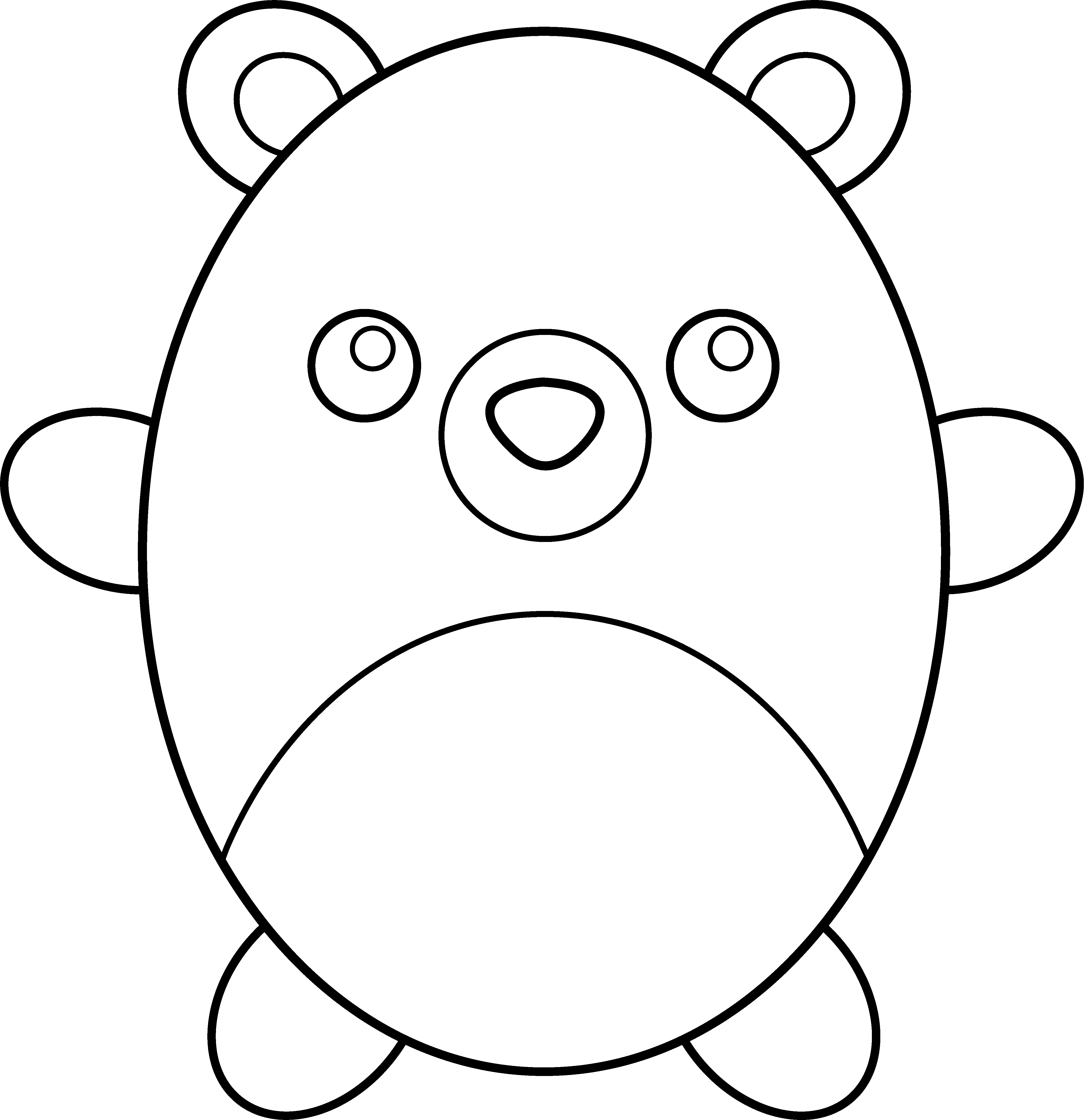 Teddy clipart coloring #14