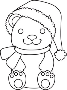 Teddy clipart coloring #15