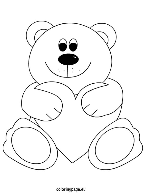 Teddy clipart coloring page #11