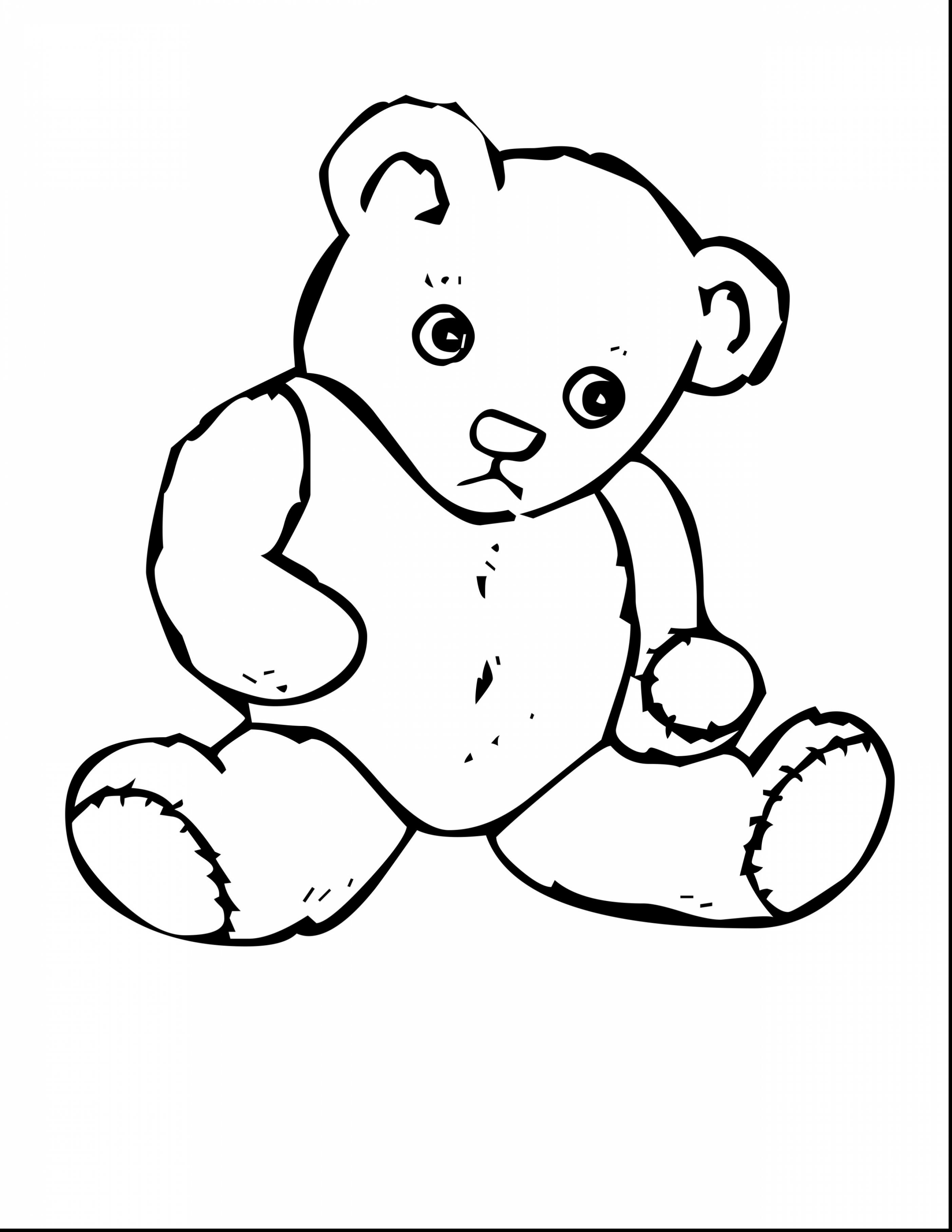 Teddy clipart coloring page #4
