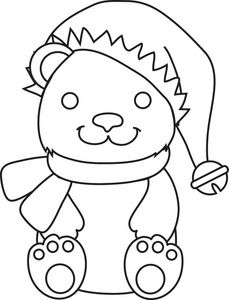 Teddy clipart coloring page #13