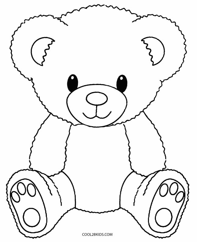 Teddy clipart coloring page #5