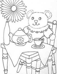 Teddy clipart coloring page #14