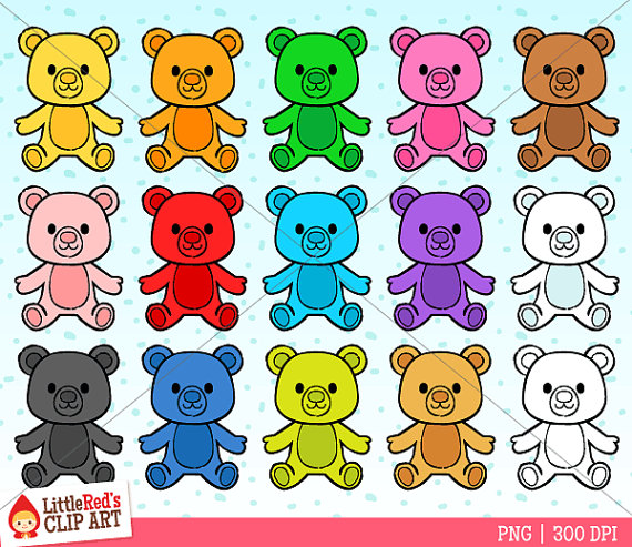 Bear clipart rainbow  use Clip commercial and