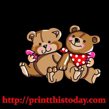 Teddy clipart cute heart Love Love holding a Cute