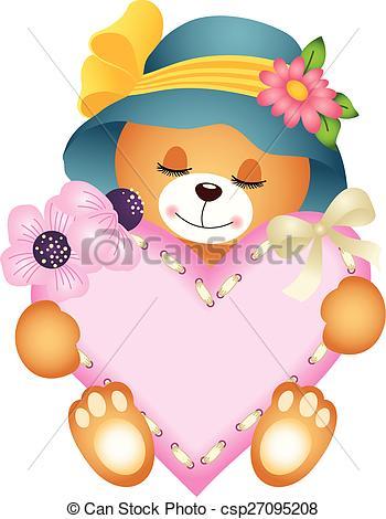 Teddy clipart cute heart #10