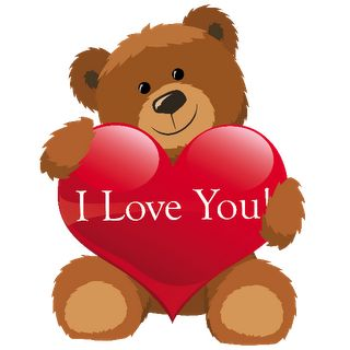 Teddy clipart cute heart #6