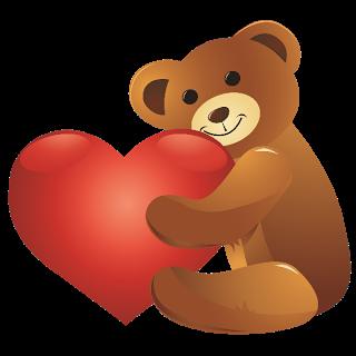 Teddy clipart cute heart #11