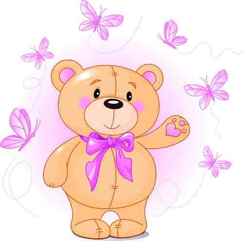 Teddy clipart cute heart #12