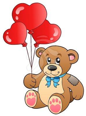 Teddy clipart cute heart #7