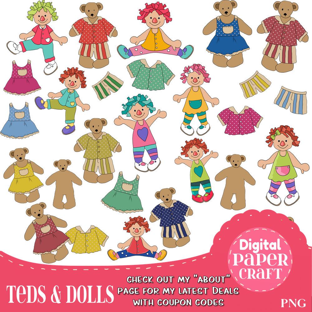 Teddy clipart doll Is digital Doll Bear Clipart