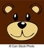 Teddy clipart face #6