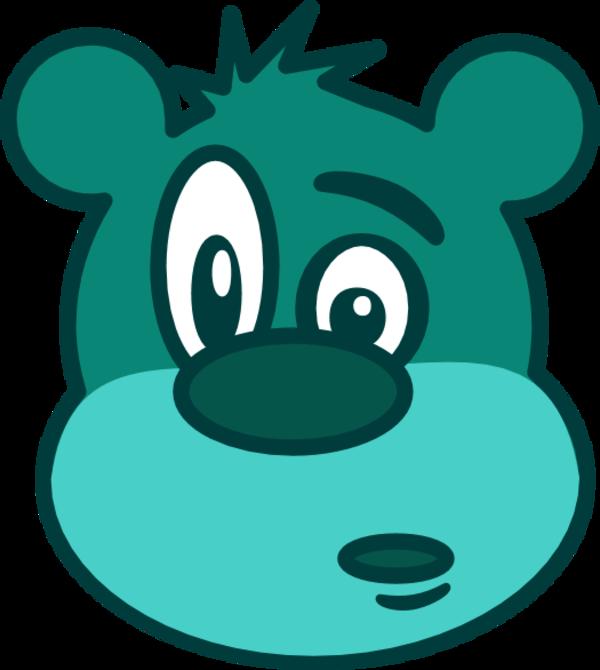 Teddy clipart face #13