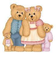 Teddy clipart family #7
