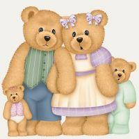 Teddy clipart family #10