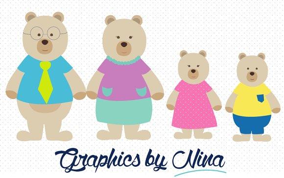 Teddy clipart family #11