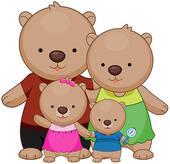 Teddy clipart family #6