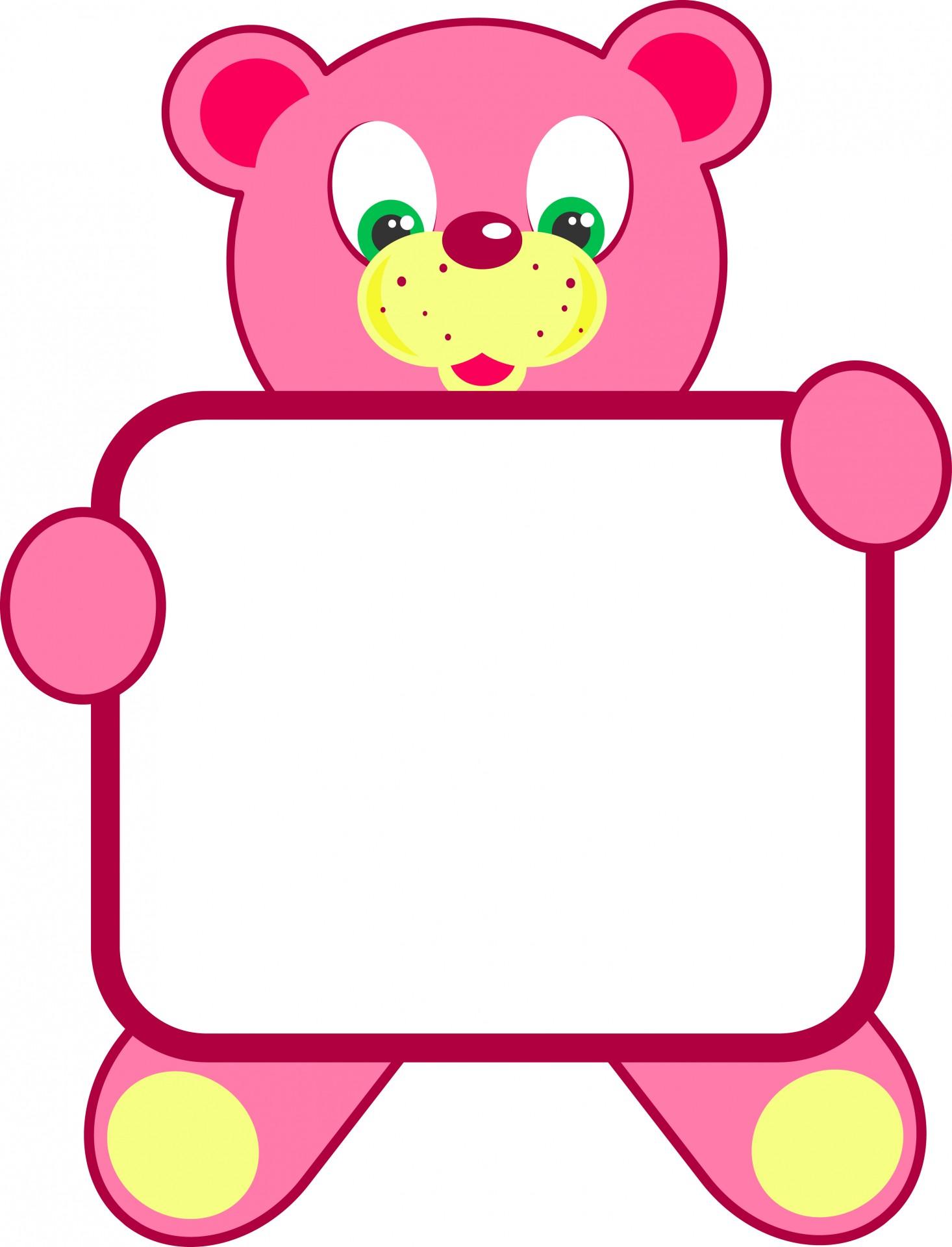 Bear clipart frame Pictures Teddy Bear Sign Public