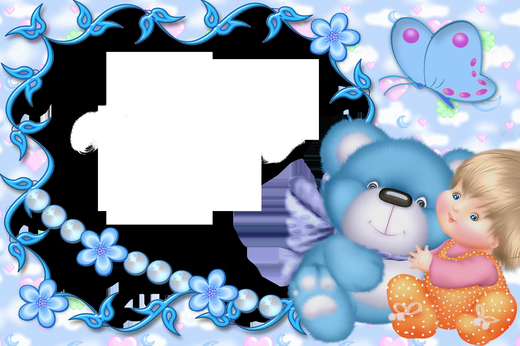 Teddy clipart frame View Kid Gallery Cute Blue