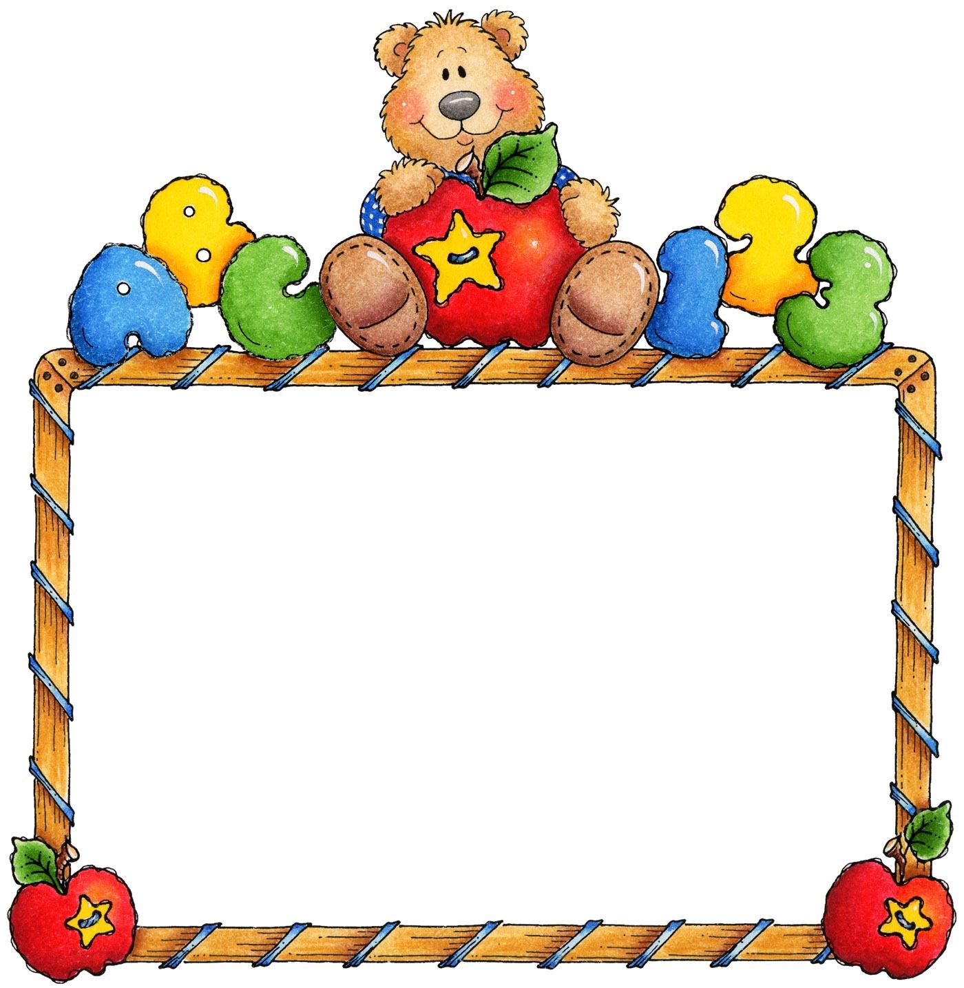 Teddy clipart frame [FR Unit  jpg] Teddy