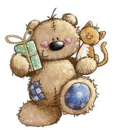 Teddy clipart fuzzy #13