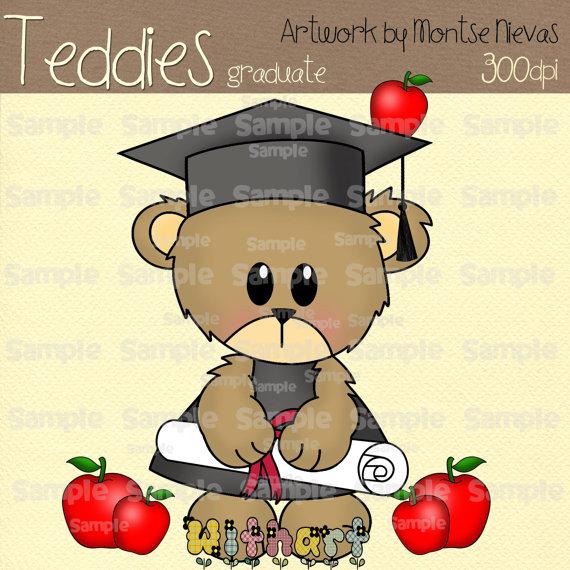 Teddy clipart graduation Clip clipart Bear graduation art