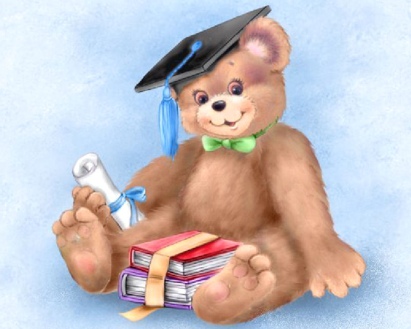 Teddy clipart graduation By Teddy by Parker Parker