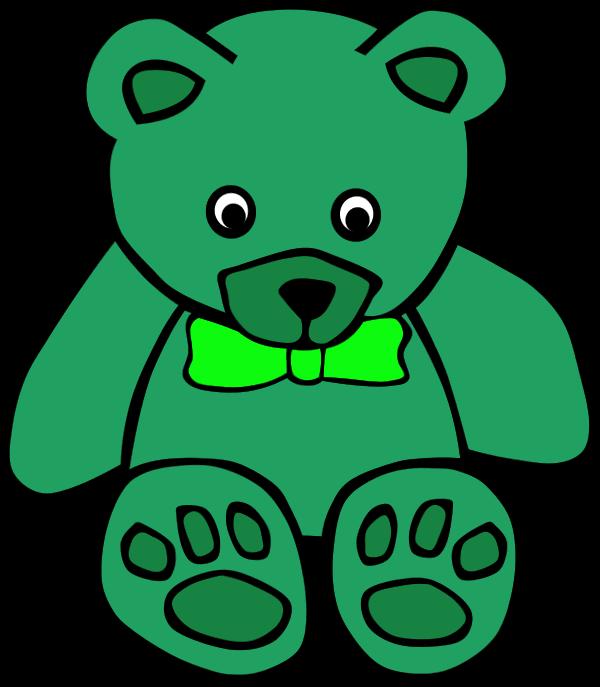 Teddy clipart green #10