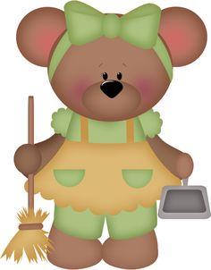 Teddy clipart green #13
